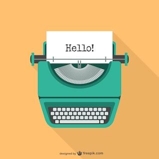 Ilustración vectorial de máquina de escribir