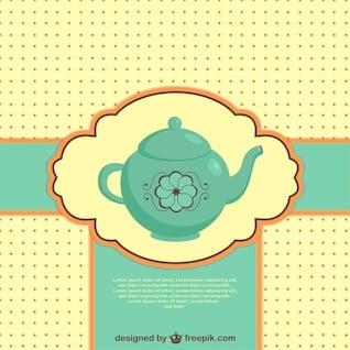 Ilustración vectorial de tetera