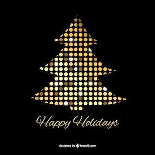 Árbol de Navidad con puntos dorados