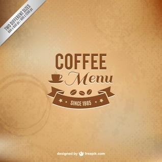 Vector menú de cafés con textura
