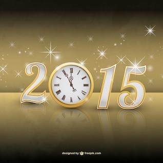 Vector de año 2015 con destellos
