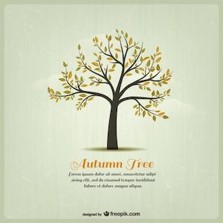 Plantilla con árbol de otoño