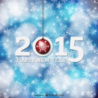 Tarjeta de año nuevo con copos de nieve
