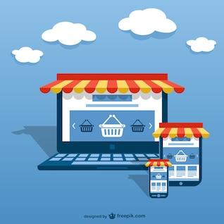 Vector conceptual de e-business