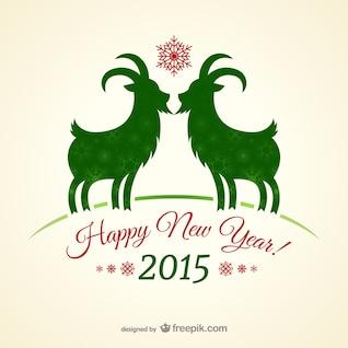Tarjeta de año nuevo de la vendimia