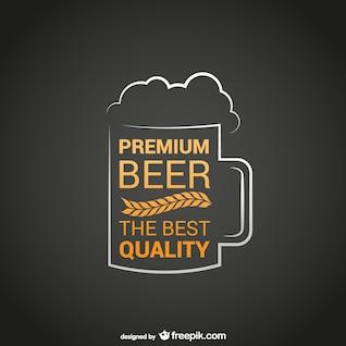 Logotipo de cerveza de la mejor calidad