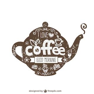 Tipografía de cafetera