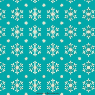 Patrón de copos de nieve de estilo retro