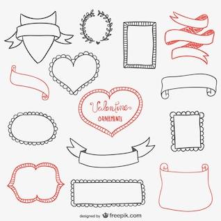 Marcos caligráficos de San Valentín