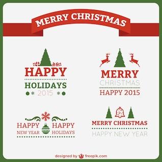 Felicitaciones de Navidad de estilo clásico