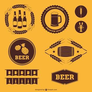 Insignias de cerveza de estilo retro