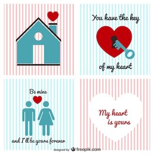 Paquete de vectores de la vendimia de San Valentín