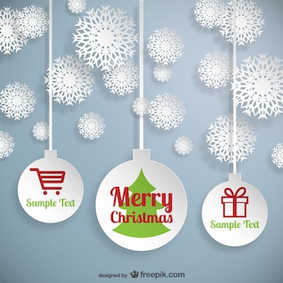 Elementos de la web de Navidad del vector