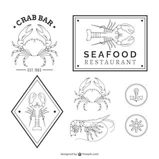 Conjunto de vectores de restaurantes