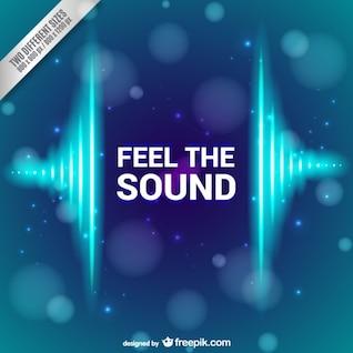 Fondo de siente el sonido