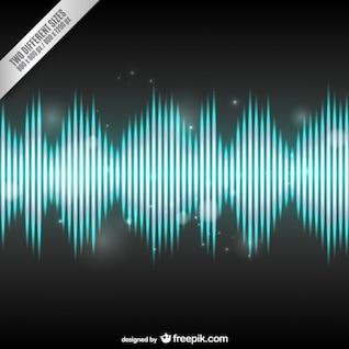 Fondo con onda de audio brillante