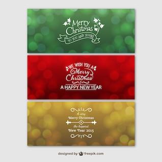 Banners a color de feliz Navidad