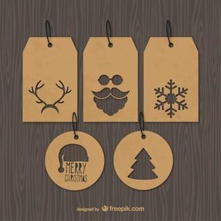 Etiquetas de la Navidad vintage