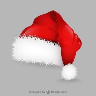 Ilustración con sombrero de Papá Noel
