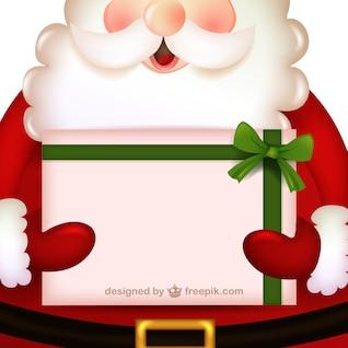 Dibujo de Papá Noel con regalo