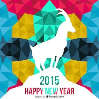 Vector poligonal de año de la cabra