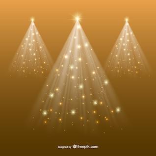 Fondo de Navidad dorado abstracto