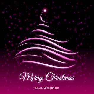 Tarjeta púrpura abstracta Navidad