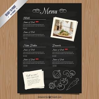 Plantilla de carta de restaurante CMYK