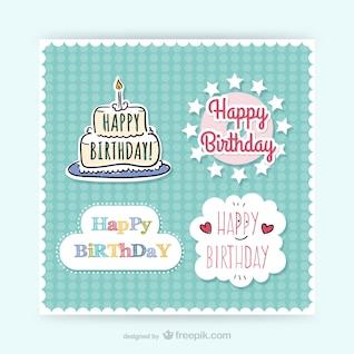 Pegatinas de cumpleaños CMYK