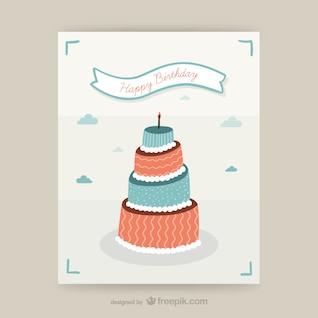 Diseño de tarjeta de cumpleaños CMYK