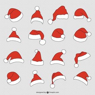 Colección de gorros de Papá Noel