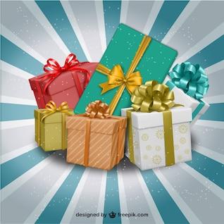 Ilustración de regalos de Navidad