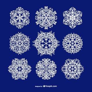 Los copos de nieve ornamentales