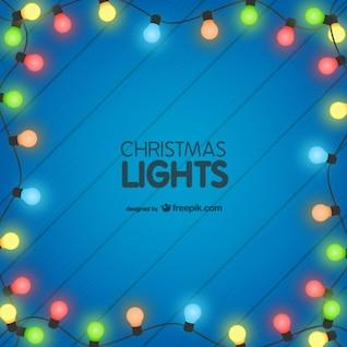 Fondo con luces de Navidad de colores
