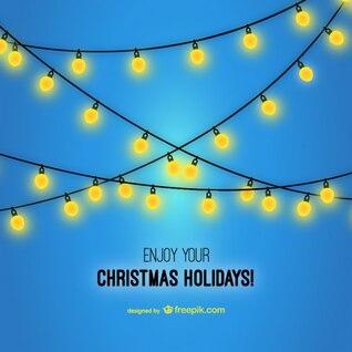 Vector disfruta de tus vacaciones de Navidad