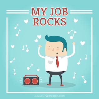 Mi trabajo vectorial rocas de dibujos animados