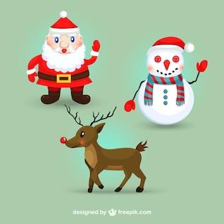 Caracteres lindos de la Navidad