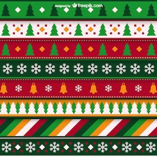 Patrón minimalista Navidad