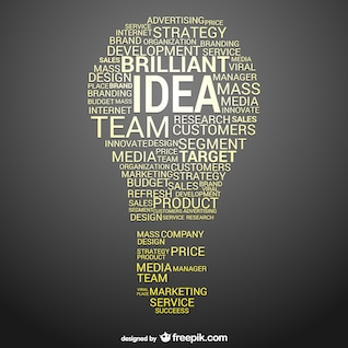 Idea de negocio vector conceptual