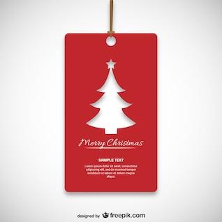 Navidad etiqueta roja