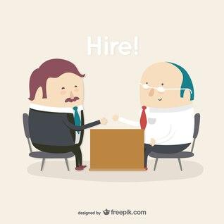 La contratación de empleados personaje de dibujos animados