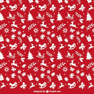 Modelo rojo y blanco de la Navidad