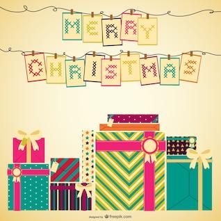 Punto de cruz tarjeta de Navidad