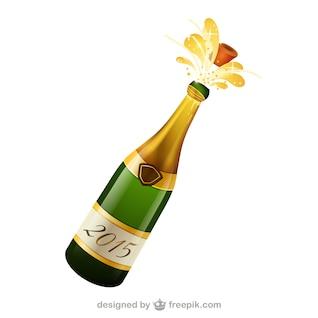 Botella de champán de vectores