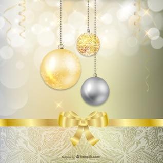 Adornos de oro y plata de la Navidad