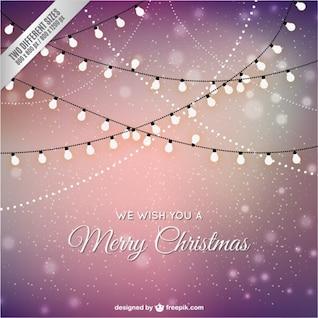 Vector tarjeta de Navidad con luces