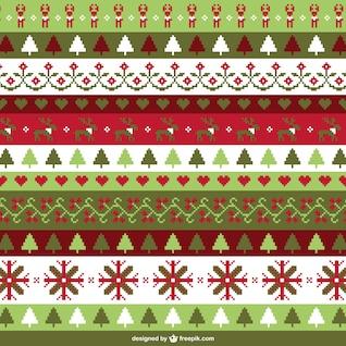 Navidad fondo de punto de cruz