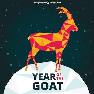 Poligonal Año del vector Cabra