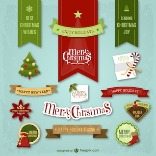 Coloridas pegatinas de Navidad