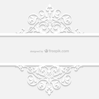 Blanca plantilla ornamental retro
